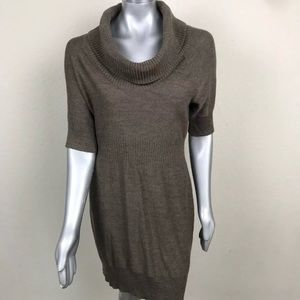LOFT Dress Sweater Casual Cowl Neck 3/4 Sleeve L